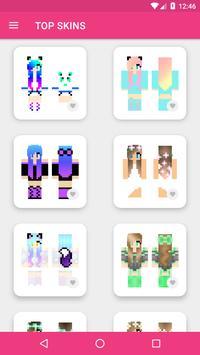 Skins Chicas para Minecraft PE captura de pantalla 9