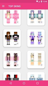 Skins Chicas para Minecraft PE captura de pantalla 10