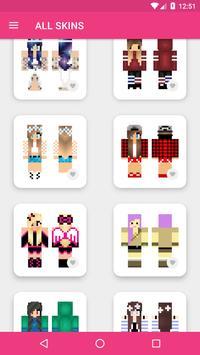 Skins Chicas para Minecraft PE captura de pantalla 11