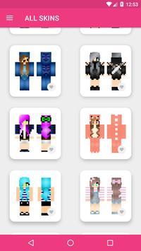 Skins Chicas para Minecraft PE captura de pantalla 18