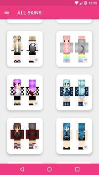 Skins Chicas para Minecraft PE captura de pantalla 15