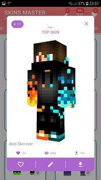 Skins MASTER for MINECRAFT PE(30000 Skins +Editor) poster