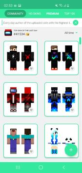 Skins MASTER for MINECRAFT PE syot layar 2