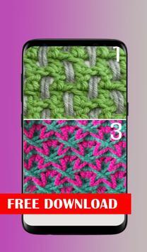 Crochet stitches poster