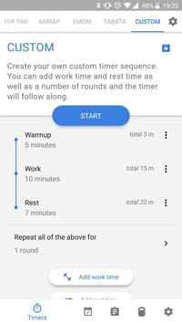 Workout timer : Crossfit WODs & TABATA screenshot 2
