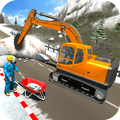 Snow Cutter Excavator Simulator-Winter Snow Rescue