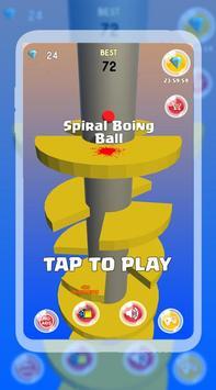 Spiral Boing Ball poster