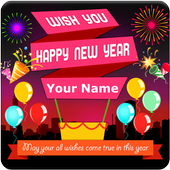 New Year 2019 Greeting Cards icon