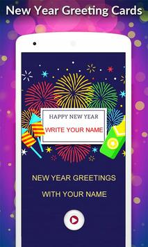 New Year 2019 Greeting Cards poster