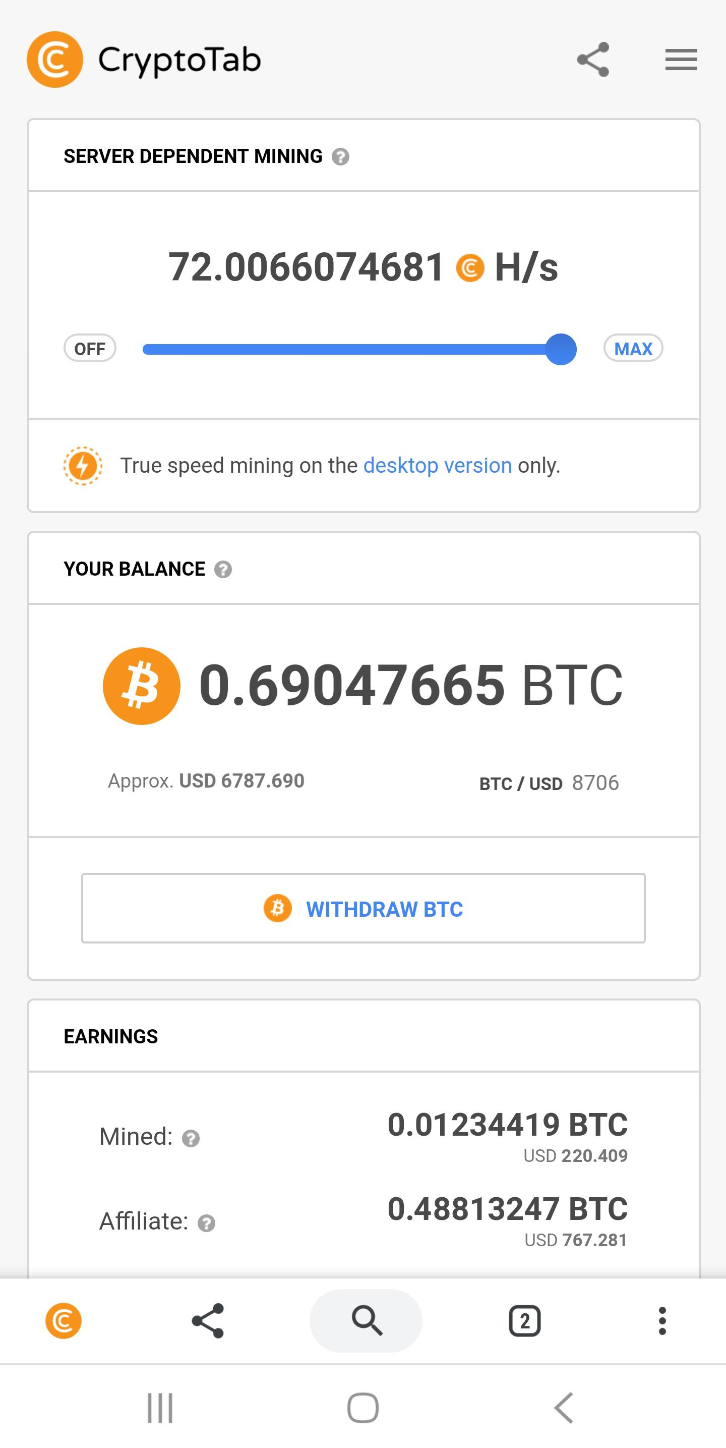 CryptoTab Browser for Android - APK Download