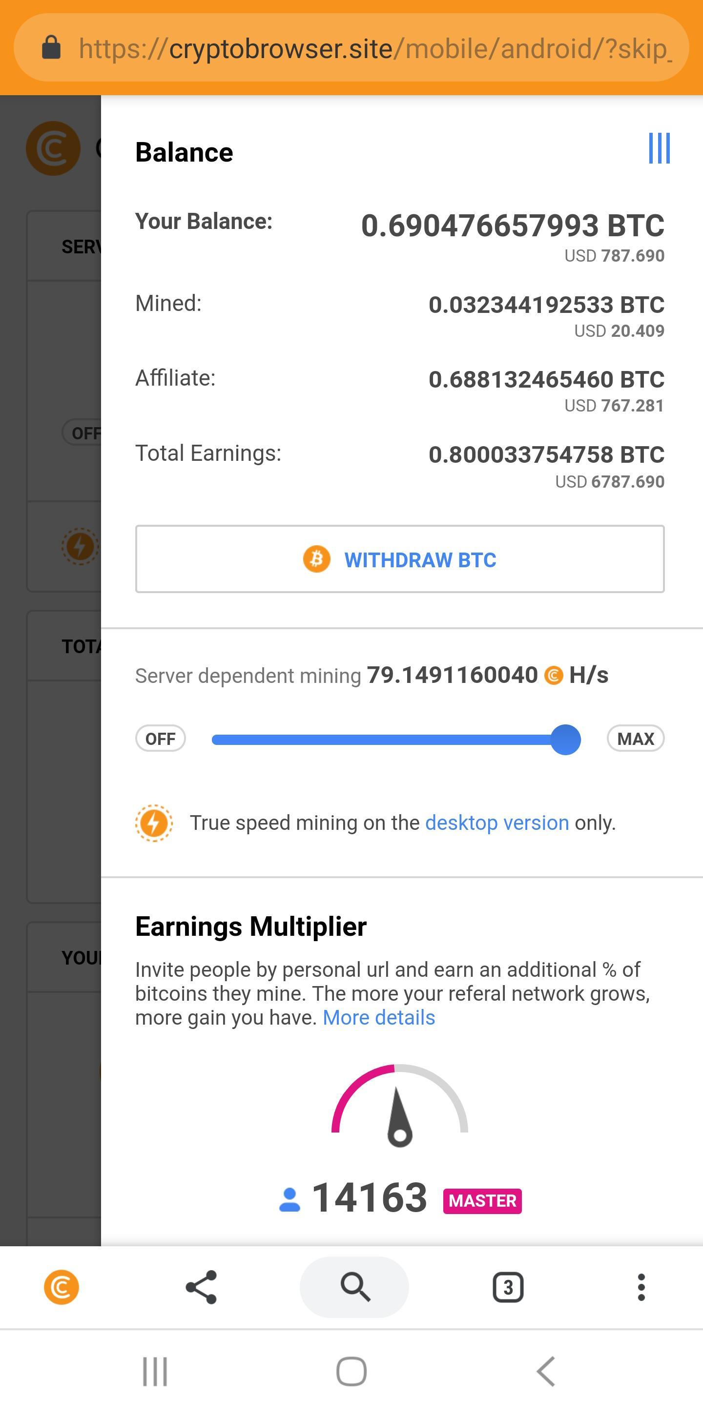 cryptotab online valore bitcoin nel 2021