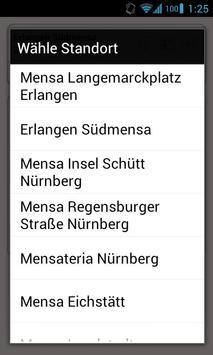 Mensa Erlangen/Nürnberg screenshot 2