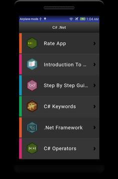 Learn C# - .Net - C Sharp Programming Tutorial App screenshot 8