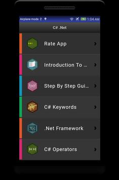 Learn C# - .Net - C Sharp Programming Tutorial App poster