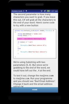 Learn C# - .Net - C Sharp Programming Tutorial App screenshot 20