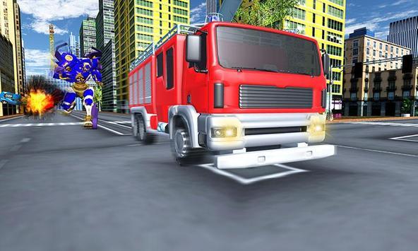 Robot Fire Truck Transforming Robot City Rescue screenshot 4