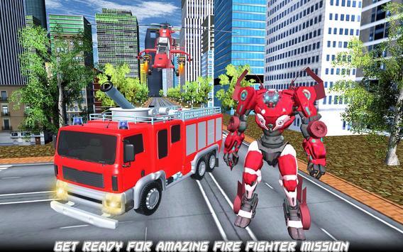Robot Fire Truck Transforming Robot City Rescue screenshot 5