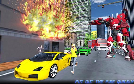 Robot Fire Truck Transforming Robot City Rescue screenshot 6
