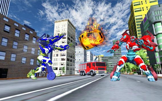 Robot Fire Truck Transforming Robot City Rescue screenshot 7