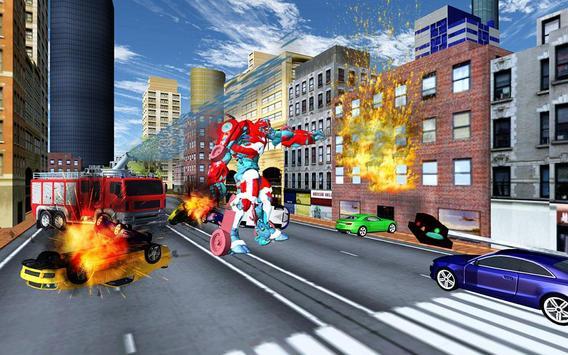 Robot Fire Truck Transforming Robot City Rescue screenshot 13