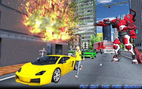 Robot Fire Truck Transforming Robot City Rescue screenshot 11