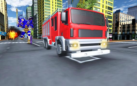Robot Fire Truck Transforming Robot City Rescue screenshot 14