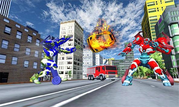 Robot Fire Truck Transforming Robot City Rescue screenshot 2