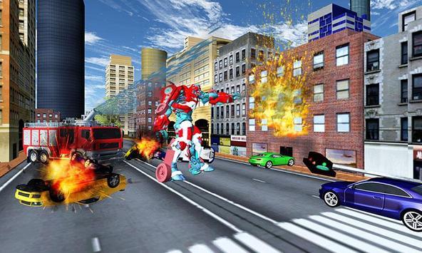Robot Fire Truck Transforming Robot City Rescue screenshot 3