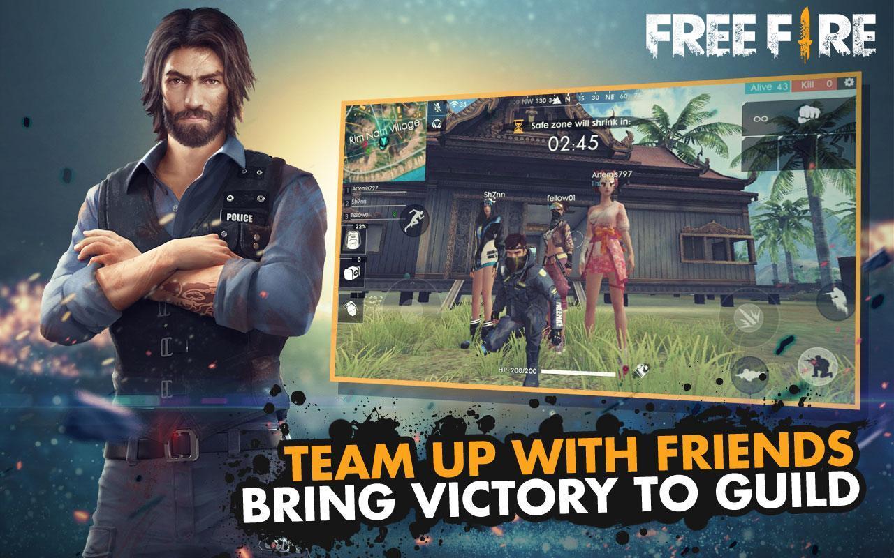 تحميل لعبة Free fire مهكرة مجانا للاندرويد.
