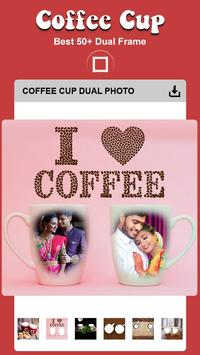 Coffee Cup Dual Photo Frame poster