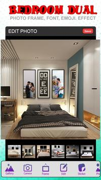Bedroom Dual Photo Frame poster