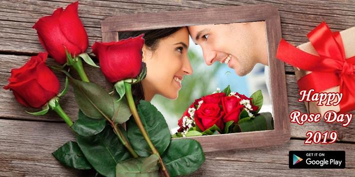 Happy rose day 2019  - Couple rose day photo frame screenshot 2