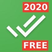 Lista zadań z filtrem ikon