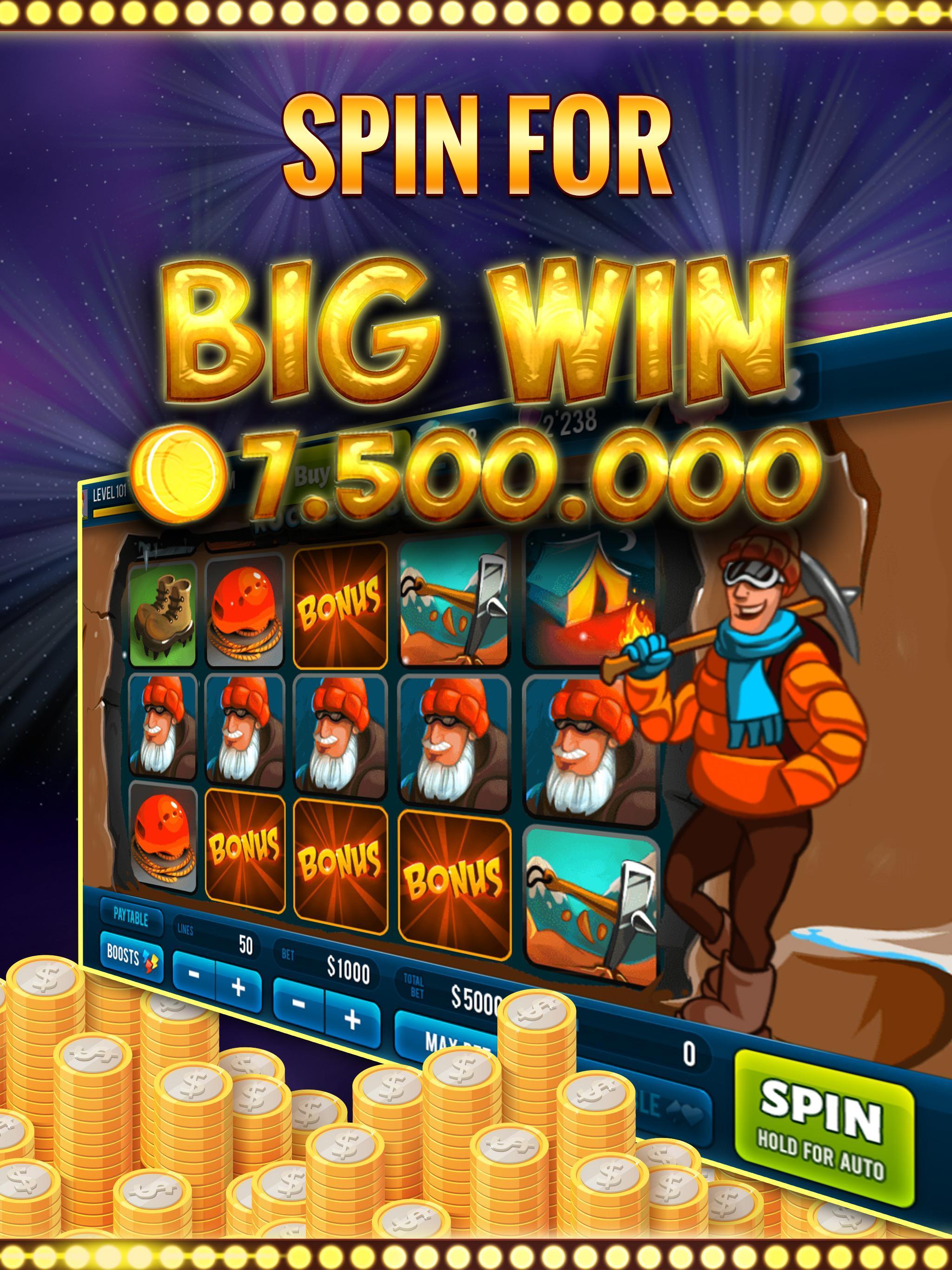 Rock Climber Free Casino Slot poster