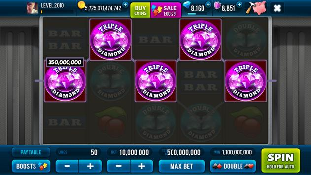 3 Pink Jackpot Diamonds Slots screenshot 1