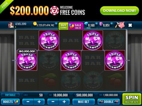 3 Pink Jackpot Diamonds Slots screenshot 7