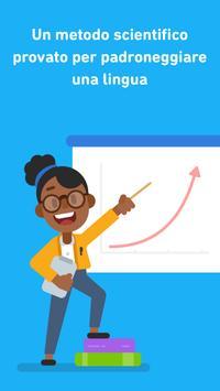 Poster Impara l'inglese con Duolingo