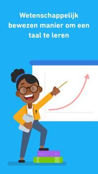 Leer Engels met Duolingo-poster