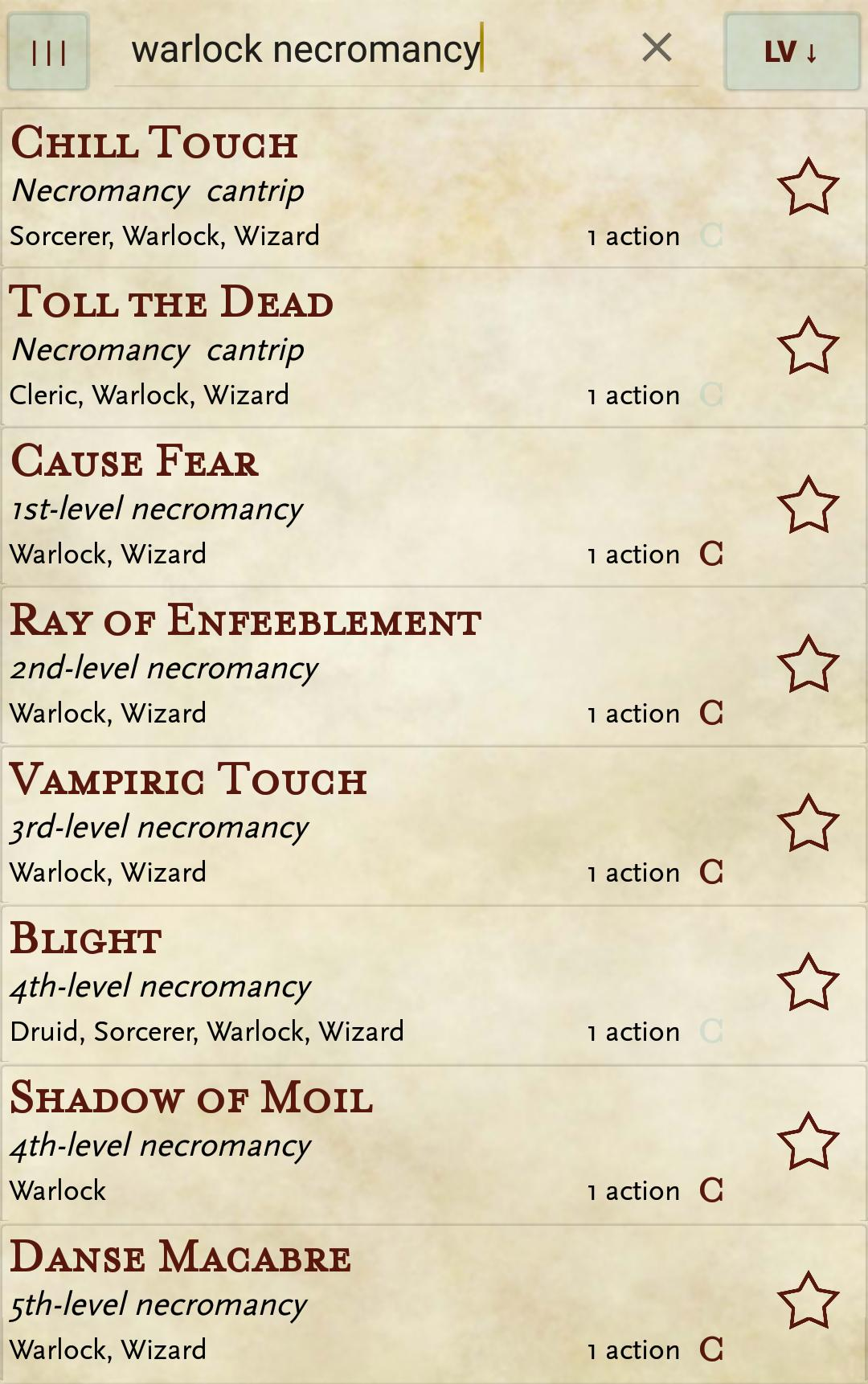 5e spells for Android - APK Download