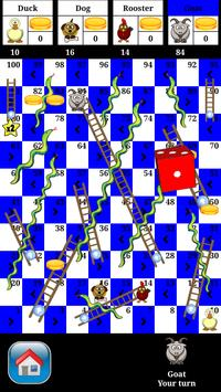 Snakes and Ladders - 2 to 4 player board game poster