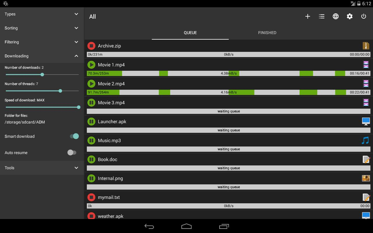 Advanced Download Manager for Android - APK Download