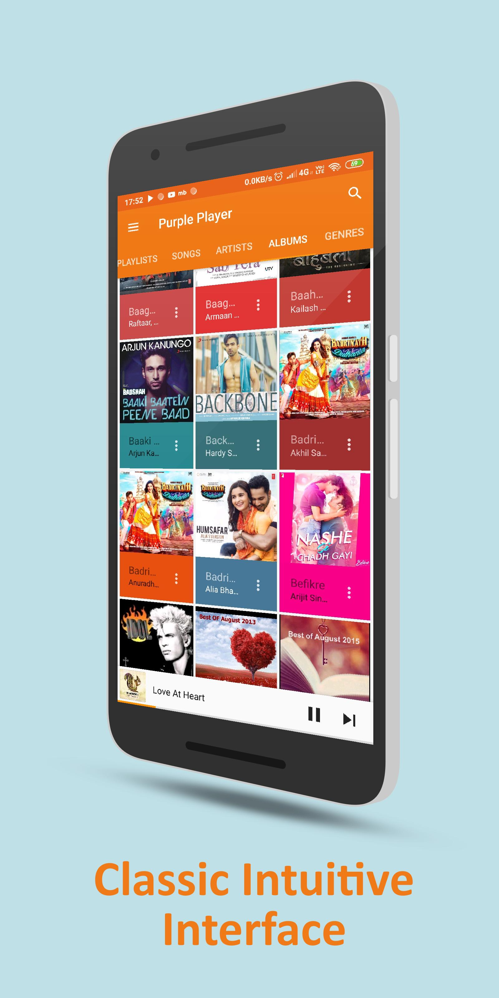 Purple Player Pro: Music Player - Mp3 Player for Android