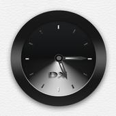 Black Clock Widget icon