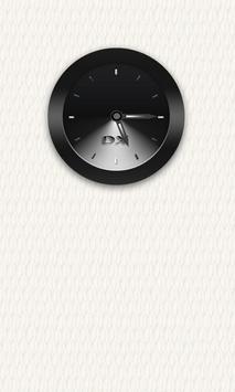 Black Clock Widget poster