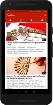 Simple Easy Mehndi Designs Videos : Arabic, Indian screenshot 1
