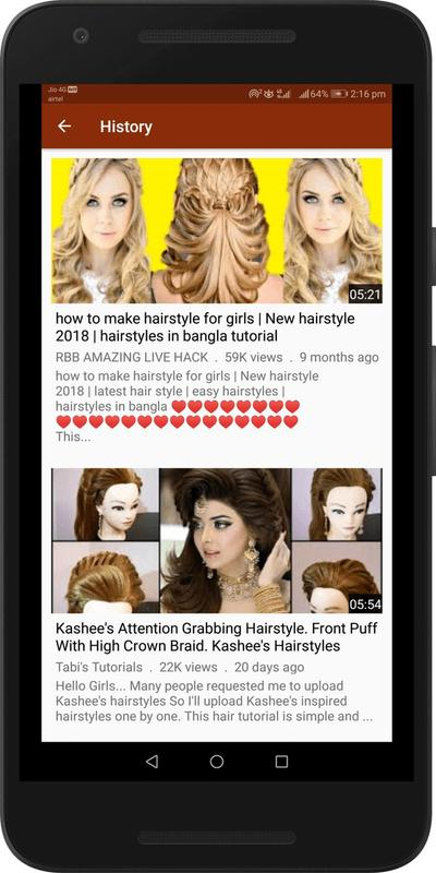 Hairstyle Videos For Girls Hair Style Tutorials For Android Apk