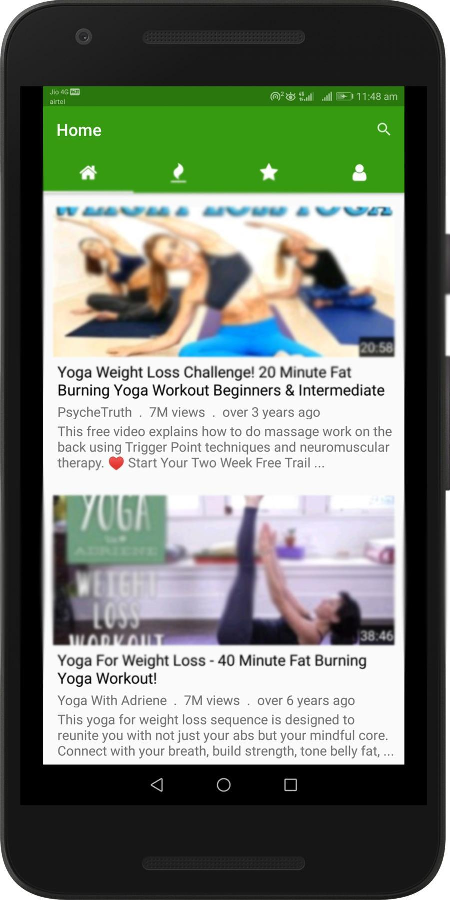 Yoga Workout Weight Loss Videos Easy Exercises For Android Apk Download