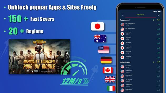 Free VPN SecVPN: Fast Unlimited Secure Proxy 海报