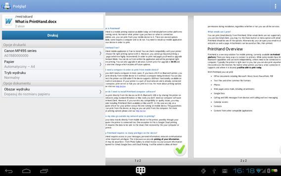 Mobilny druk PrintHand screenshot 8