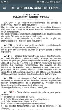 Constitution Algérienne screenshot 4